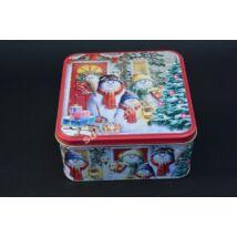 Süteményes doboz  hóemberek