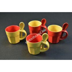 Sárga-piros kávés csésze