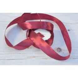 Díszítő dekoráló dekorációs 25 mm  vörös szatén szalag
