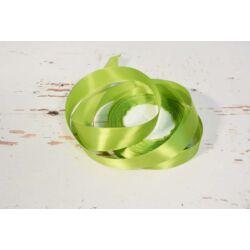 Díszítő dekoráló dekorációs 25 mm  zöld szatén szalag