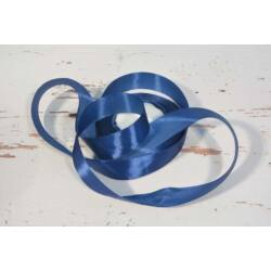 Díszítő dekoráló dekorációs 25 mm  kék szatén szalag