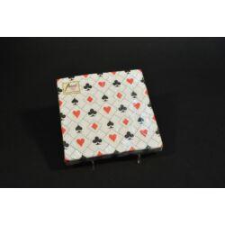 Kártyamintás papírszalvéta 33x33 cm 20 db