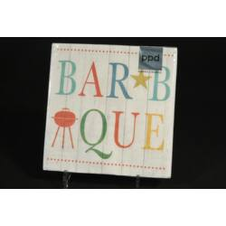 Barbeque papírszalvéta 33x33cm 20db