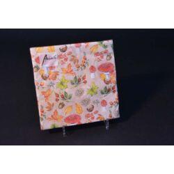 Őszi papírszalvéta őszi falevelekkel 33x33 cm 20 db
