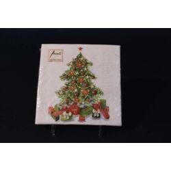 Karácsonyi papírszalvéta karácsonyfa 33x33 cm