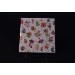 Karácsonyi papírszalvéta gyerekeknek asztalterítéshez 33x33 cm