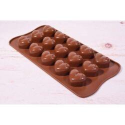 Szilikon bonbon forma csoki forma  szív