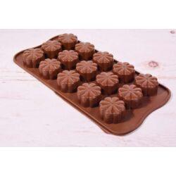 Szilikon bonbon forma csoki forma  virág