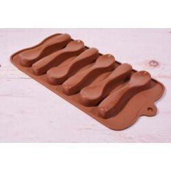 Szilikon bonbon forma csoki forma  csokikanál
