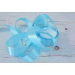 Díszítő dekoráló dekorációs 25 mm világos kék szatén szalag