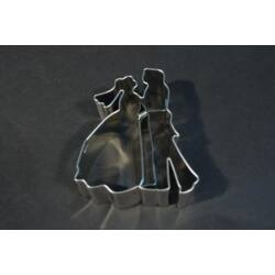 Jegyespár menyasszony vőlegény kiszúró 8 cm