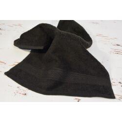 Konyhai kéztörlő  törölköző fekete pamut frottír 30x50cm