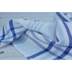 Konyharuha kék csíkos 45x60 cm