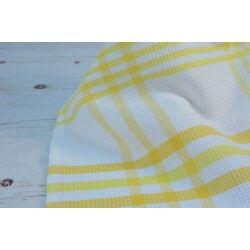 Konyharuha sárga csíkos 45x60 cm