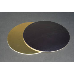 Arany-fekete tortakarton tortaalátét  kétoldalas 30 cm
