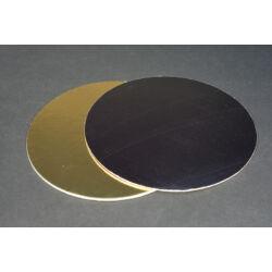 Arany-fekete tortakarton tortaalátét  kétoldalas 24 cm