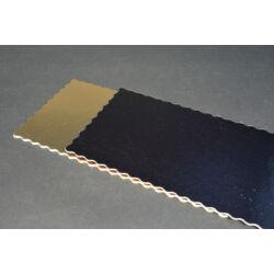 Arany-fekete tortakarton tortaalátét  kétoldalas téglalap alakú  15x30 cm