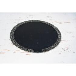 Csipkés tortatálca tortaalátét fekete 30 cm