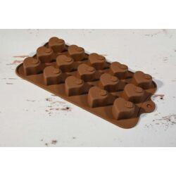 Szilikon bonbon forma szív
