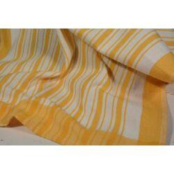 fehér alapon sárga csíkozással konyharuha