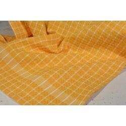 Sárga  kockás konyharuha 45x64cm