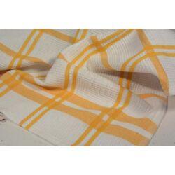 Sárga csíkos kockás konyharuha 45x64cm