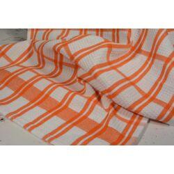 Narancs csíkos  konyharuha 45x64cm