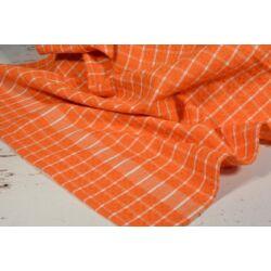 Narancs kockás  konyharuha 45x64cm