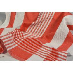 Piros csíkos  konyharuha 45x64cm