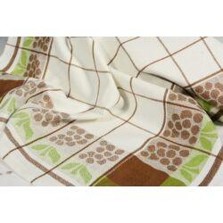 Szőlő mintás  barna   konyharuha 50x70cm