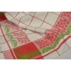 Szőlő mintás piros  konyharuha 50x70cm