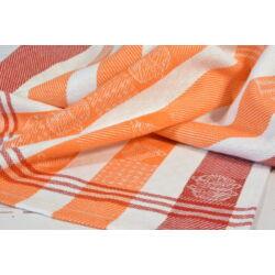 Edény mintás narancs  konyharuha 50x70cm