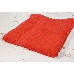 Piros  frottír  törölköző 50x90 cm