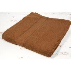 Sötét barna csokoládé barna frottír  törölköző 50x90 cm