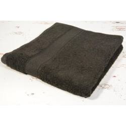 Fekete frottír törölköző 100x140 cm