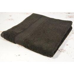 Fekete frottír  törölköző 50x90 cm