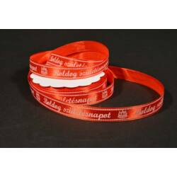 Boldog születésnapot  feliratos szatén szalag 15mmx23m piros
