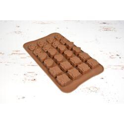 Szilikon bonbon forma csoki forma 3 mintával