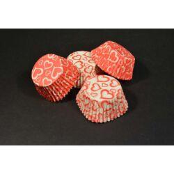 Szív mintás muffin papír 36 db