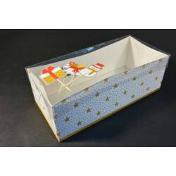 Süteményes doboz tetővel alátét kartonnal 26x12x9 cm