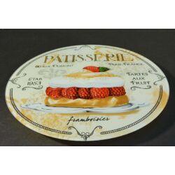 Forgatható üveg tortatartó torta tál 30 cm