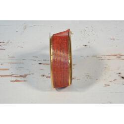 Dekorációs szalag piros 2,5 cm x 8 m