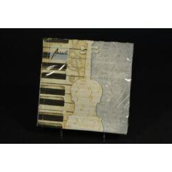 Zongora  mintás papírszalvéta 33x33 cm