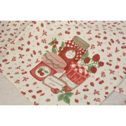 Cseresznye szamóca mintás konyharuha 50x85 cm