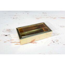 Bonbon doboz arany fedeles 2 soros osztott  letolható tetővel