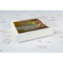 bonbonos doboz peremes osztott letolható tetővel
