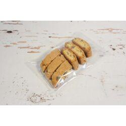 Átlátszó tasak  desszert csomagoláshoz visszahajtható ragasztócsíkos