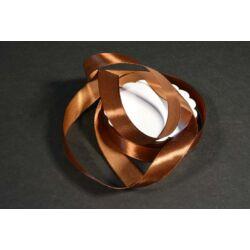 szatén szalag 2 cm csokoládé barna