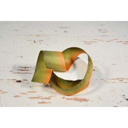 Zöld-narancs dekorációs szalag 4 cm