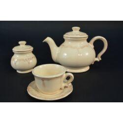 Bézs barokk teáskészlet